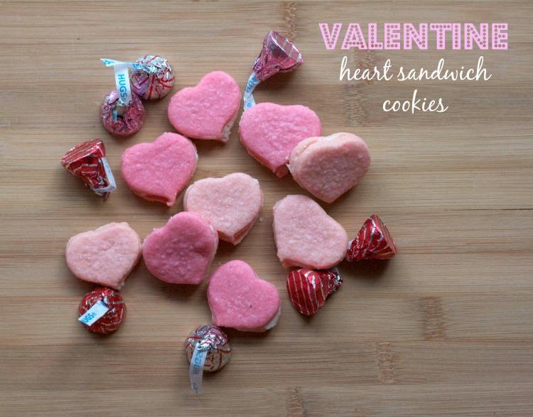 valentine heart sugar cookies, cream filled sandiwch cookies, heart shaped sandwich cookies, martha stewart recipes, heart sugar cookies, pink cookies