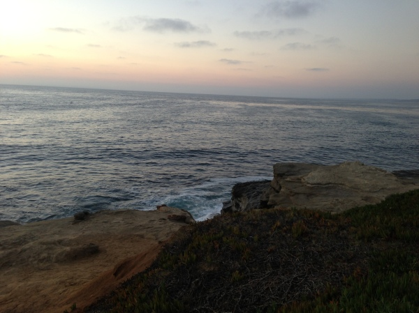 sunset, la jolla