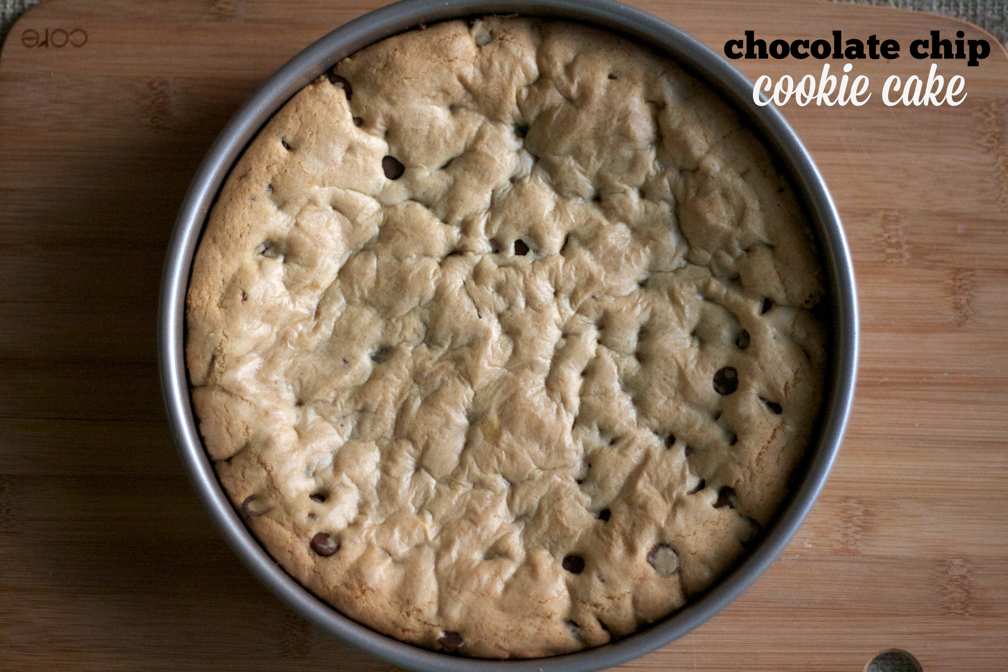 Chocolate Chip Cookie Cake | Simply Social Blog
