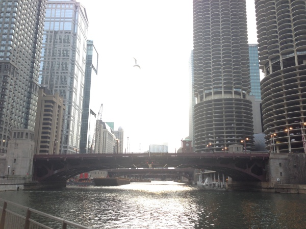 chicago riverwalk, farewell chicago tour, running in chicago, chicago river