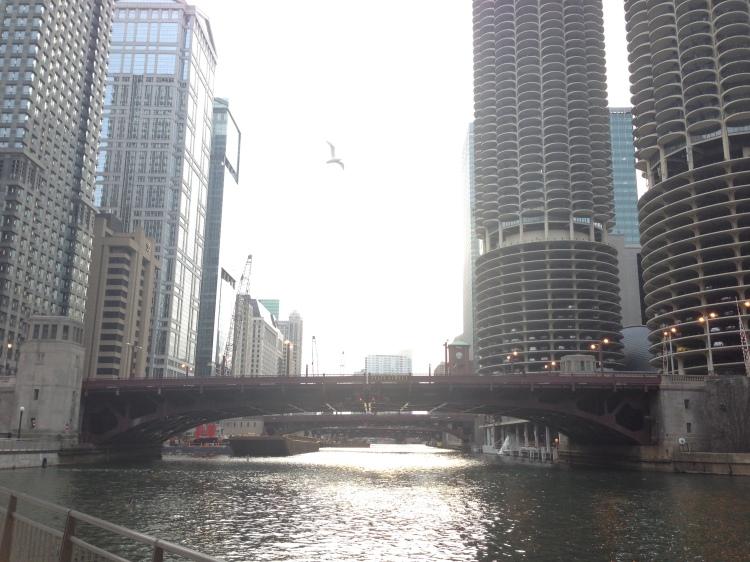 chicago riverwalk, farewell chicago tour, running in chicago, chicago river