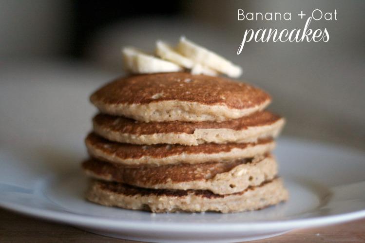 banana oat pancakes, gluten free, simple pancakes, recipes, breakfast, brunch, pancakes,