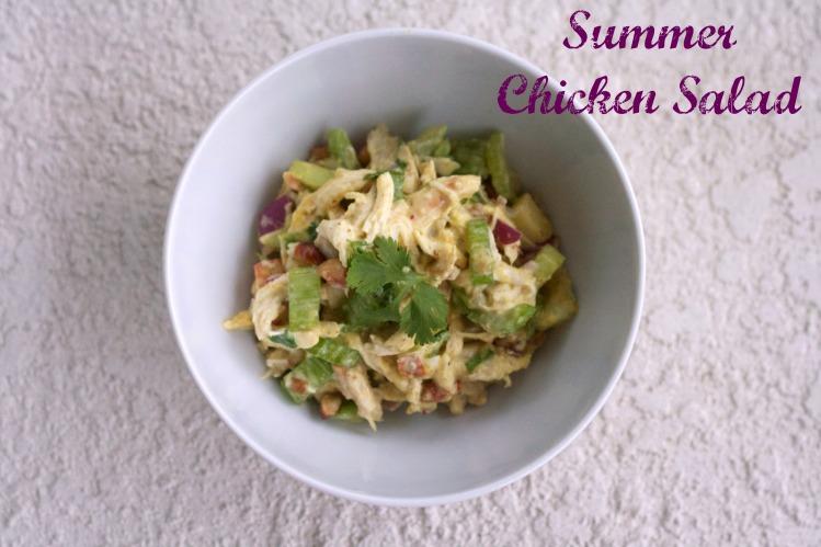 summer chicken salad, recipes, spring, greek yogurt chicken salad, almond chicken salad