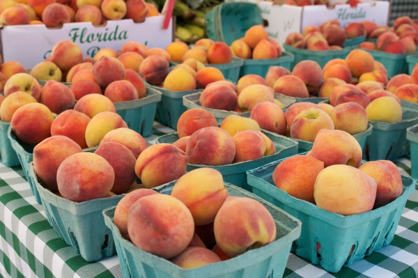 sarasota downtown farmer's market, produce, vegetables, farmers market, spring, tips for making the most of the farmers market, peaches