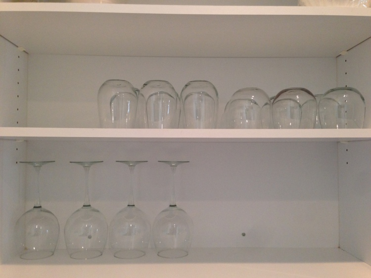 new house tour, water glass cabinet, florida, kitchen