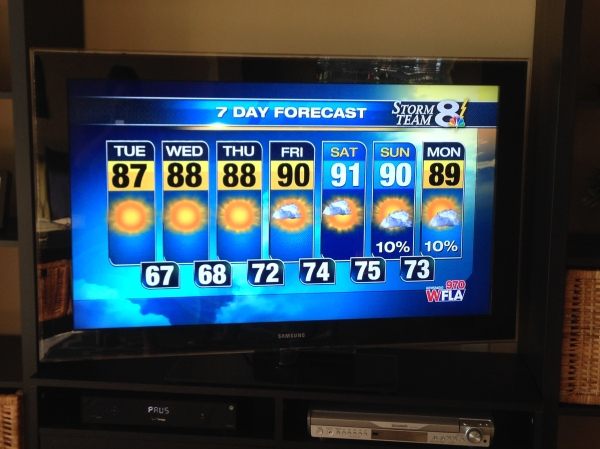 florida weather forecast, sarasota forecast, tampa bay weather