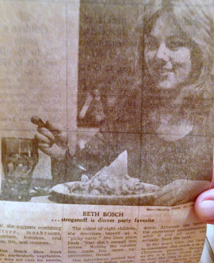 food memories, news gazette, beth bosch, food columnist