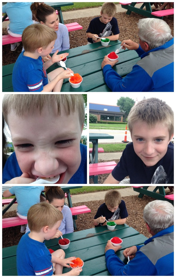 ice deli, boys, family, snow cones, summer, nephews