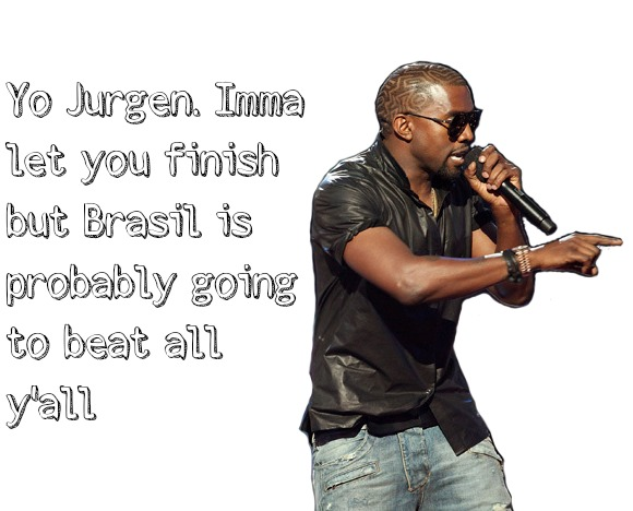 kanye west imma let you finish world up, brasil, landon donovan, jurgen klinsmann