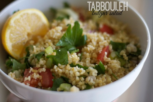 tabbouleh salad, bulgur wheat salad, Mediterranean salad, cucumber tomato and bulgur salad, recipes, summer, greek