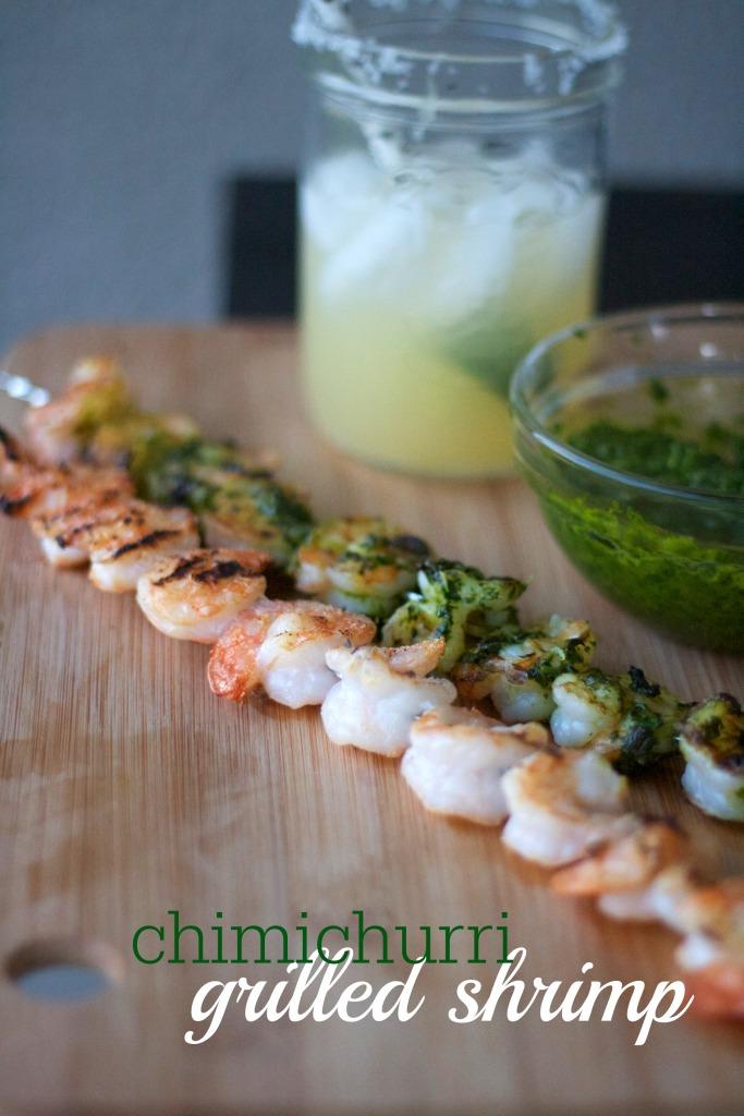 grilled shrimp with chimichurri, parsley, cilantro pesto, marinated shrimp recipe, herb pesto,