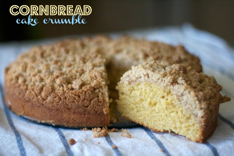 cornbread recipe, cake, recipes, cornbread cake crumble, dessert, breakfast, brunch, crumb cake, how sweet it is, instagram, baking, cornmeal