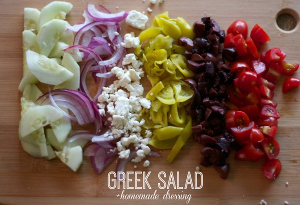 classic greek salad recipe, homemade greek salad dressing, recipes, salads. summer, international, simple recipes