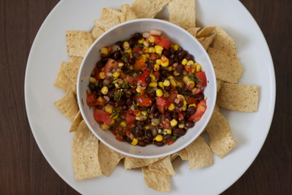 cowboy caviar, salsa, corn and black bean salsa, recipes, dips, salsa recipe