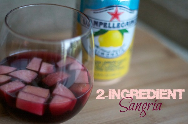 two ingredient sangria recipe, pellegrino limonata, wine, cocktails, drinks, summer, sangria,