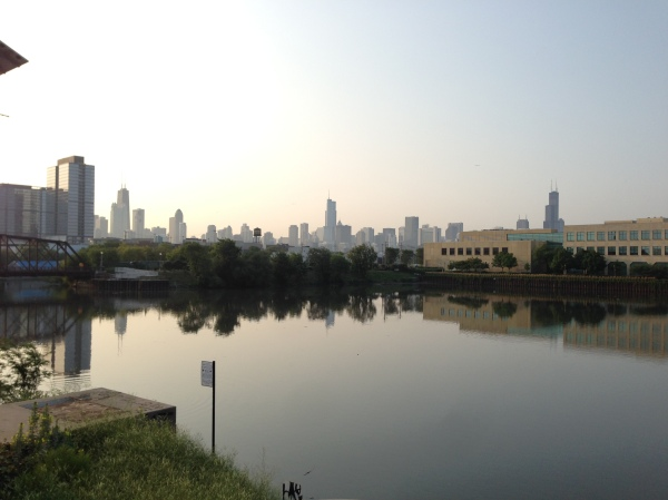 chicago skyline, north avenue, summer, Chicago, city, reflection