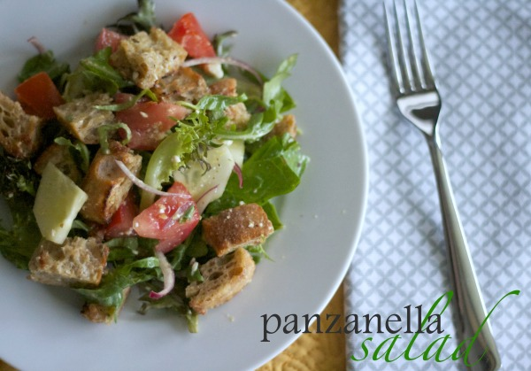 panzanella salad recipe, salad, italian, bread, summer, vinaigrette, recipes,