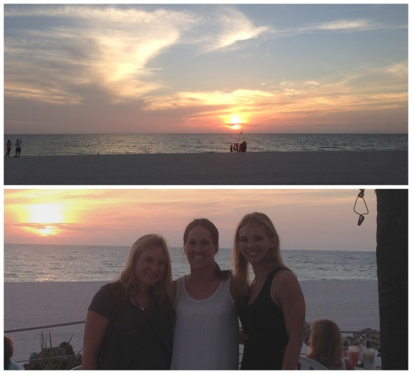 beachhouse restaurant, anna marie island, girls weekend, beach, sunset, sky, dinner