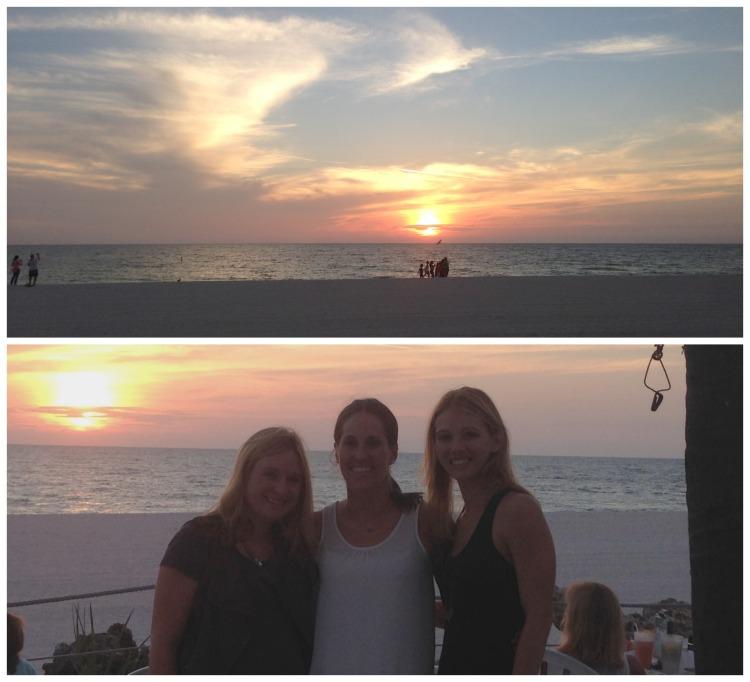 beachhouse restaurant, anna marie island, girls weekend, beach, sunset, sky, dinner