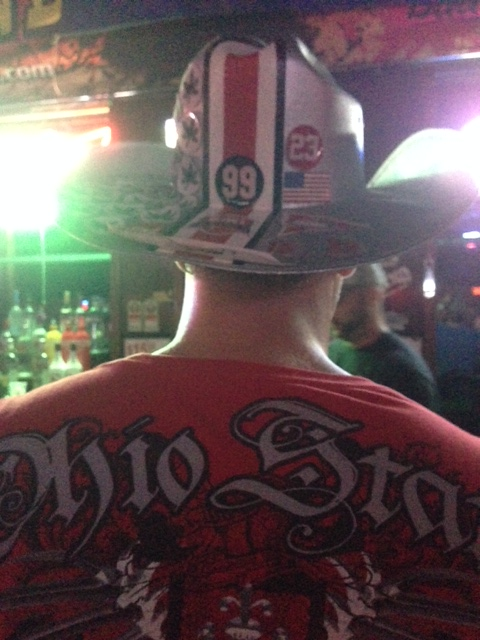 ohio state fans, affliction shirts,