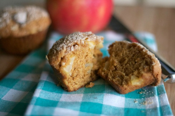 pumpkin apple muffins, recipes, breakfast, brunch, baking, fall, streusel topping, apple, pumpkin