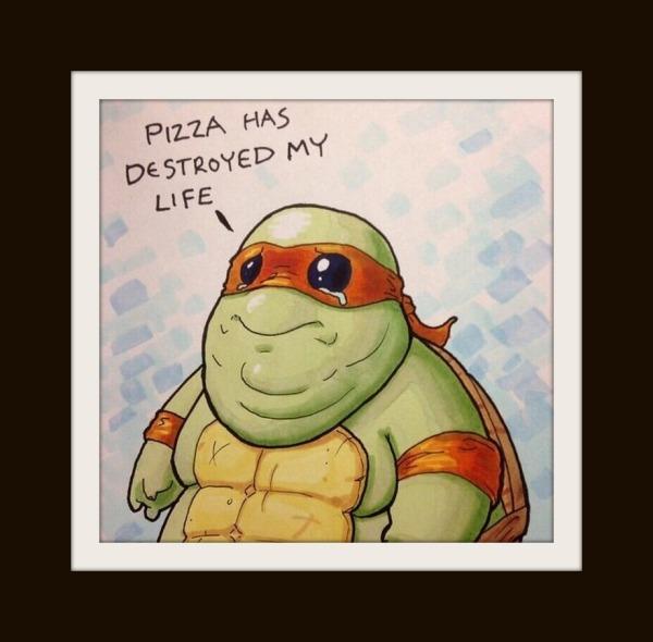 ninja turtle comic, leonardo, funny