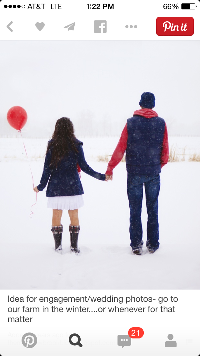 5 ways Pinterest is ruining engagement photos, pinterest, engagement photos, wedding, balloons, winter engagement photos