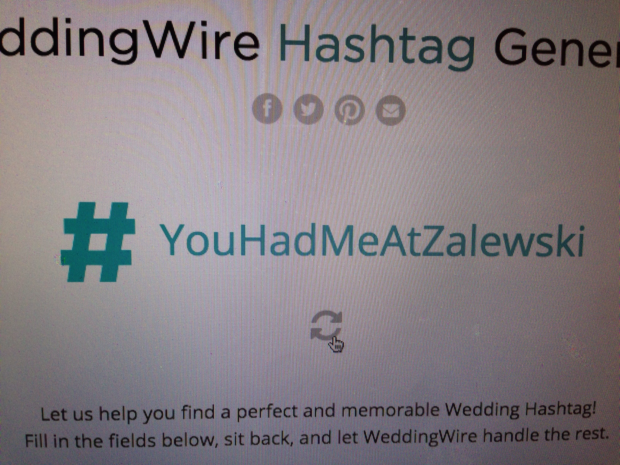 wedding wire, hashtag generator, wedding planning, social media