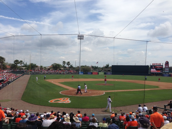 cardinals, spring training, ed smith stadium, orioles, baseball, st. louis cardinals, sarasota