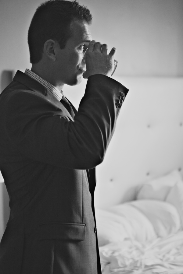 wedding, groomsmen, groom, navy blue suit, springfield illinois wedding, spring wedding, downtown springfield, gray suits,
