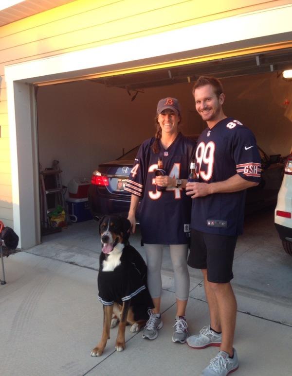 bears football, chicago, greater swiss mountain dog, halloween, Chicago Bears, Florida