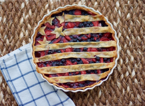 American Flag Pie | All-American 4th Of July Desserts | most popular 4th of july food