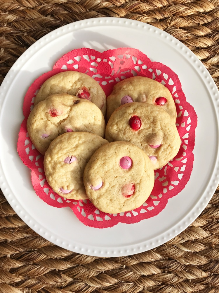valentine's day cookies, m&m cookies, baking, cookies, holiday