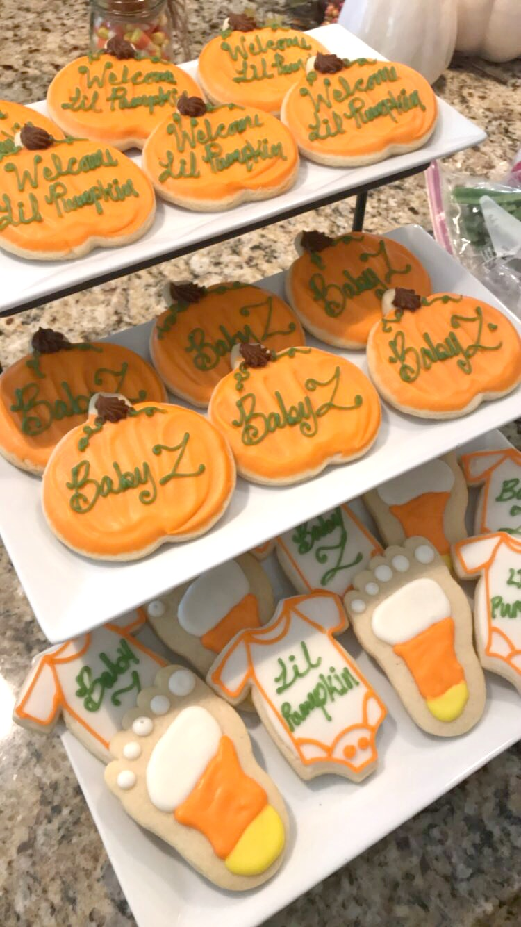 Halloween Themed Baby Shower Cookies.Baby Shower Simply Social Blog